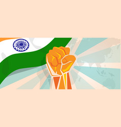 india fight and protest independence struggle vector image vector image