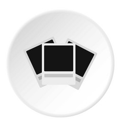 photo icon circle vector image