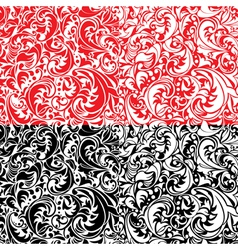 Set of swirl ornamental seamless patterns vector image vector image