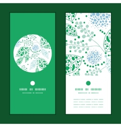 Abstract blue and green leaves vertical vector