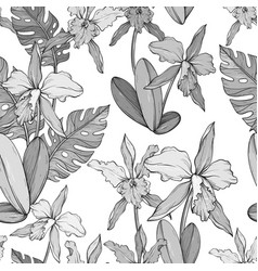 abstract vintage seamless floral pattern with vector image