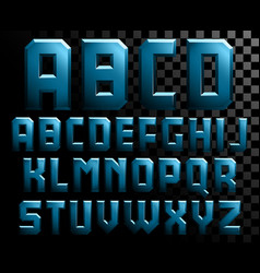 Alphabet metal letters vector