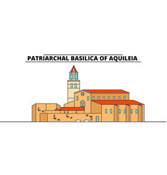 archaeological area -patriarchal basilica of vector image