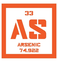 Arsenic chemical element vector image