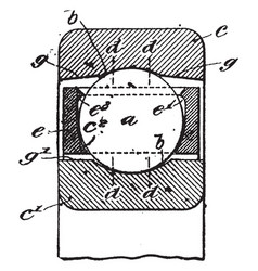 Ball bearing vintage vector