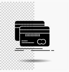 banking card credit debit finance glyph icon on vector image