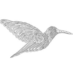 beautiful decorative hummingbird vector image