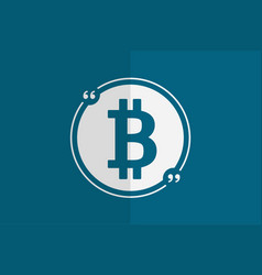 bitcoin in quotes for web design vector image