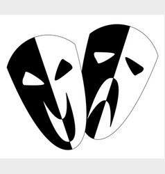 black and white stage masks vector image