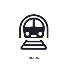 Black metro isolated icon simple element from vector