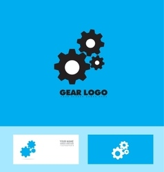Blue black gear logo concept vector image