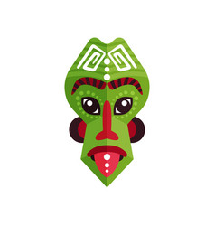 Bright green ritual mask of zulu people african vector