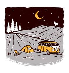 camping at night vector image