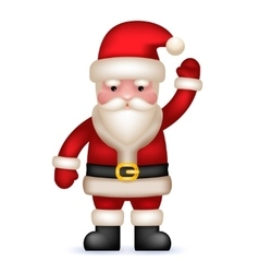 Cartoon Santa Claus Toy Character Waving Hand vector image