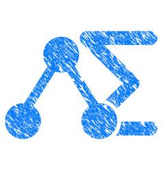 chemical formula grunge icon vector image
