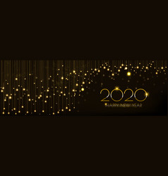 christmas banner design with glowing glittering vector image