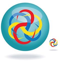 Circular line design vector