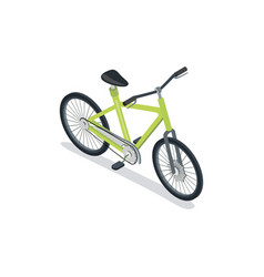 City bicycle isometric 3d element vector
