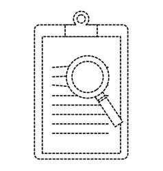 clipboard document with magnifying glass vector image