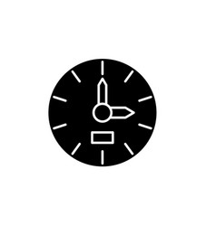 clock black icon sign on isolated vector image