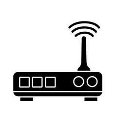 Contour router digital wifi technology network vector