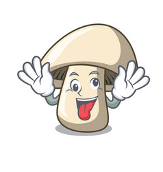 Crazy champignon mushroom mascot cartoon vector