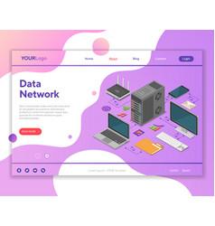 data network isometric concept vector image