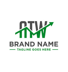 decimal financial logo with letter atw vector image