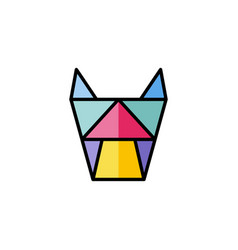 Dog cat family head sign symbol colorful theme vector