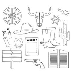 Doodle wild West vector image