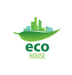 eco house sign on white vector image
