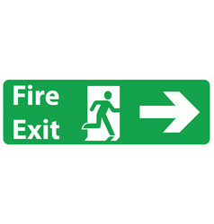 emergency fire exit door and exit door vector image