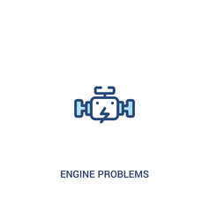 Engine problems concept 2 colored icon simple vector