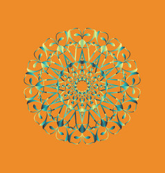 floral round decorative symbol vintage decorative vector image