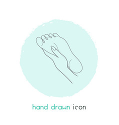 foot massage icon line element vector image