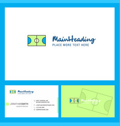 football ground logo design with tagline front vector image