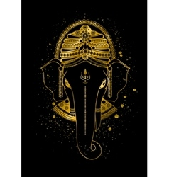 Golden ganesha vector