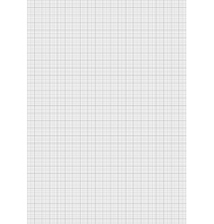 Gray color graph paper on vertical a4 sheet vector image