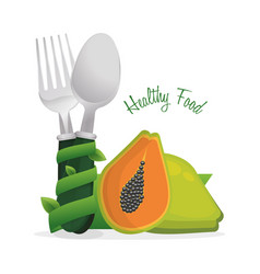healthy food diet cook poster vector image