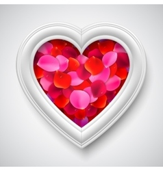 Heart Shaped Picture Frame vector image