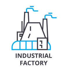 industrial factory thin line icon sign symbol vector image