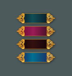 Islamic banner design set vector