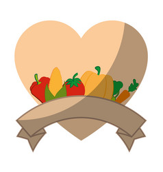 Isolated vegetables banner vector
