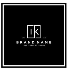 Letter ik square logo design concept vector