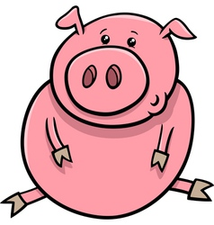 little pig or piglet cartoon vector image