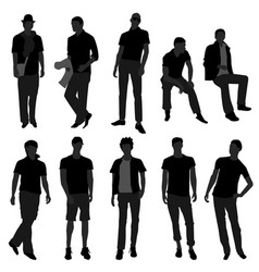 Man men male fashion shopping model a set men vector