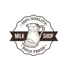 Milk shop logo vector