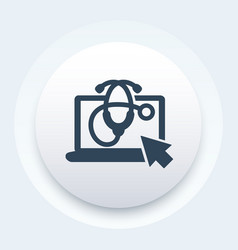 online medical service icon vector image