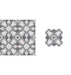Ornate decorative tiles abstract background vector