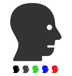 Patient head flat icon vector